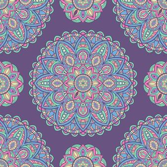 Mandala vintage design for printing. tribal ornament.