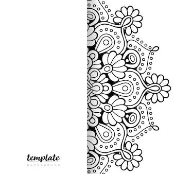 Mandala white background. round floral ornament