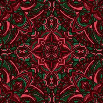 Mandala with abstract shapes