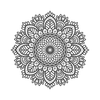 Mandala with floral elements