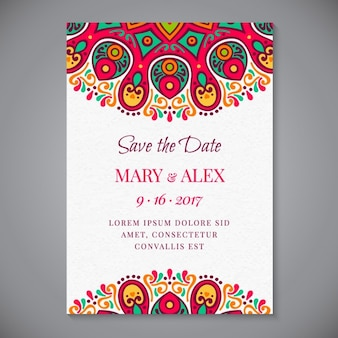 Приглашение на свадьбу mandala