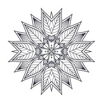 Mandala. круглый орнамент старинные декоративные элементы