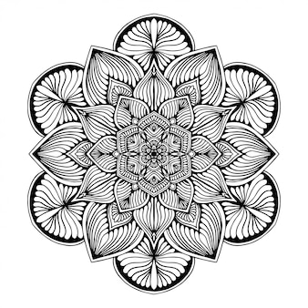 Mandalas coloring book, flower shape, oriental therapy, yoga logos vector.