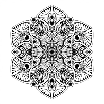 Mandalas coloring book, oriental therapy, yoga logos vector.