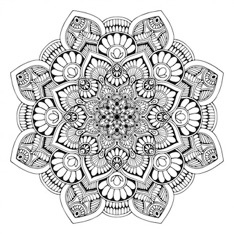 Mandalas coloring book, oriental therapy, yoga