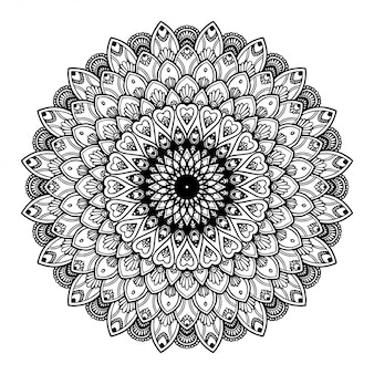 Mandalas coloring book, oriental therapy, yoga.