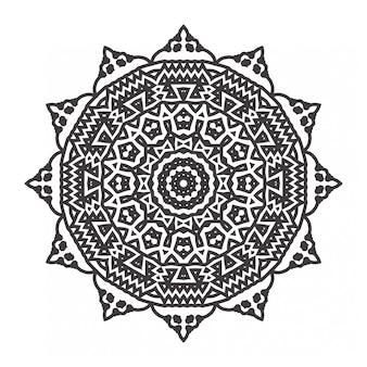 飾りスタイルのマンダラ塗り絵