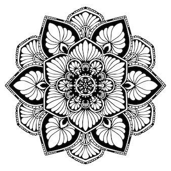Мандалы для раскраски. восточный вектор, антистрессовая терапия. йога логотипы vec