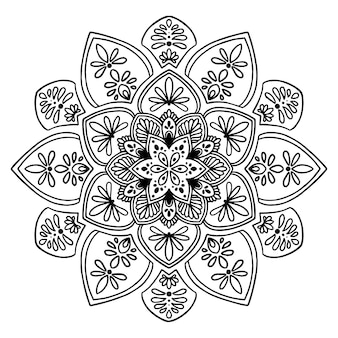 Mandalas for coloring  book. Oriental vector, Anti-stress therapy patterns. Yoga logos Vec