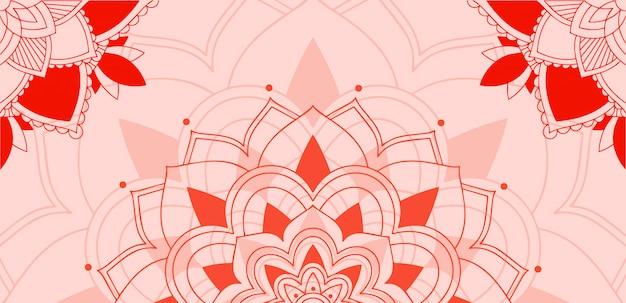 Узор мандалы на розовом фоне