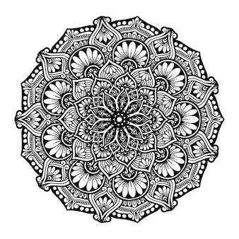 Мандалы круглые для раскраски. декоративные круглые орнаменты.