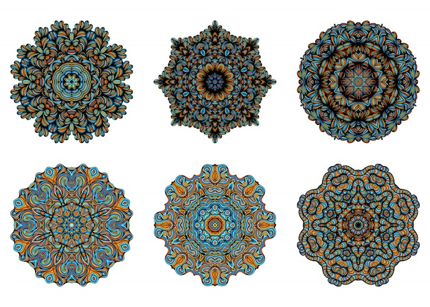 Mandalas. vintage decorative elements with oriental pattern. yoga template. islam, arabic indian turkish and pakistan culture.  illustration.