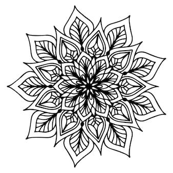 Mandalas раскраска, цветочная форма, восточная терапия, логотипы йоги.