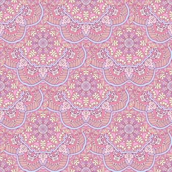Mandallaシームレスパターンタイルベクトルabstarct背景。抽象的な幾何学的なプリント