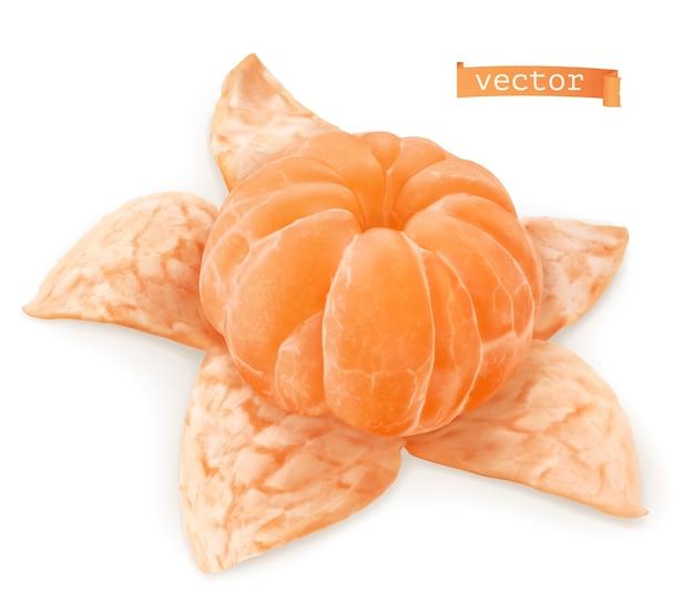 Мандарин оранжевый реалистичные иллюстрации