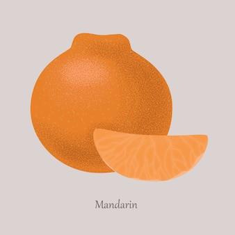 Mandarin, tangerine ripe sweet tropical fruit.