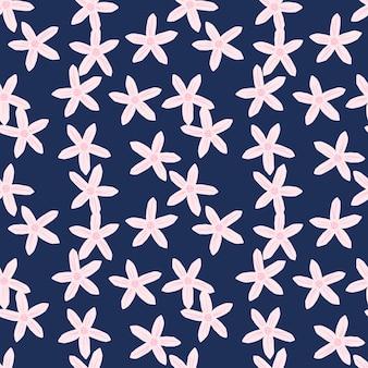 みかんは花柄のランダムなシームレスパターンを開花します