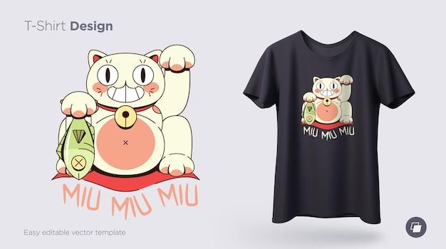 Maneki neko catпечать на футболках кофты чехлы для мобильных телефонов сувениры