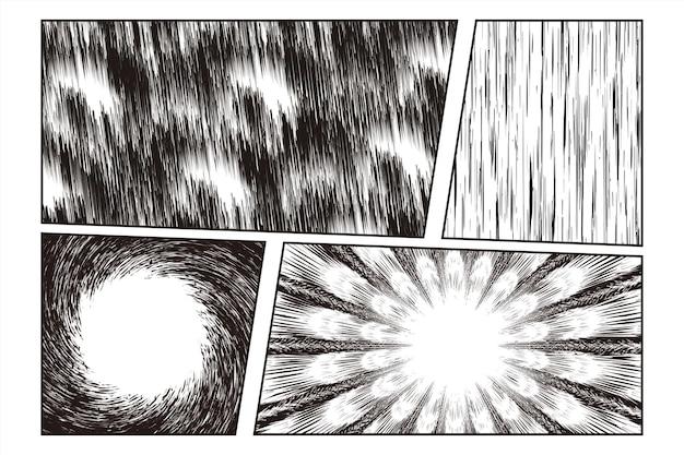 コミックシーンのマンガ放射状爆発効果