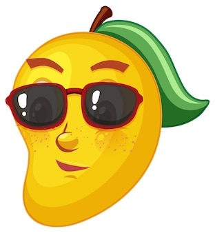 Mango cartoon character with facial expression