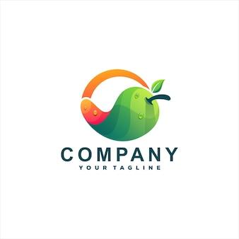 Дизайн логотипа градиента цвета манго