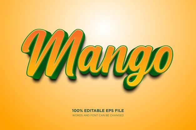 マンゴー編集可能なテキストスタイル効果