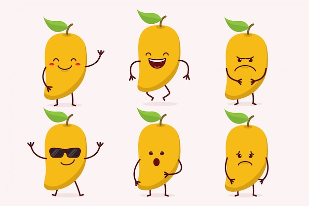 Mango fruit character set
