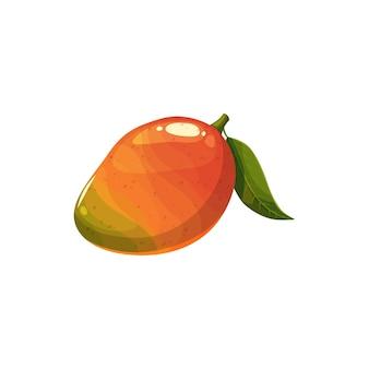 マンゴーフルーツ、ベクトル新鮮な熱帯のジューシーな植物