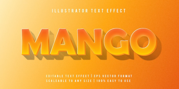 Mango fun эффект шрифта vibrant text style