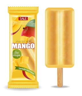 Mango ice cream package