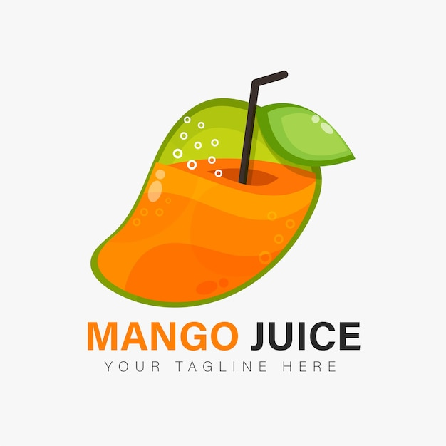 Mango juice logo design
