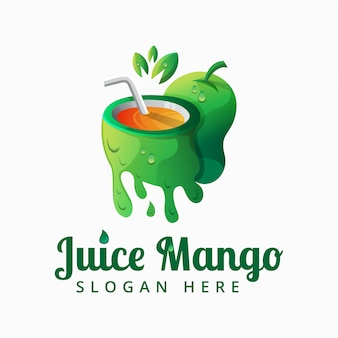 Mango juice logo vector