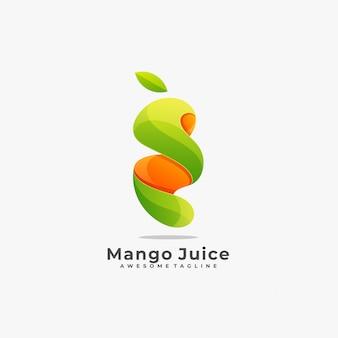 Логотип сока манго.
