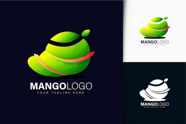 Mango logo design with gradient