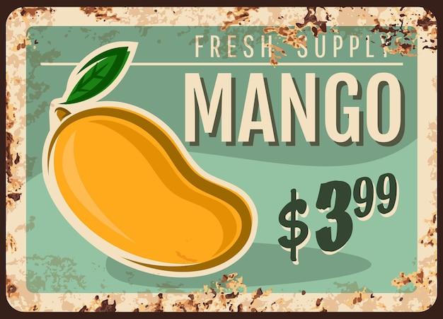 Mango rusty metal plate