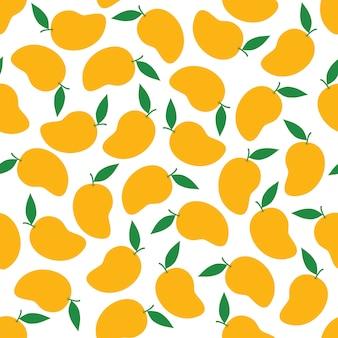 Mango seamless pattern background vector design