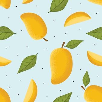 Mango seamless pattern