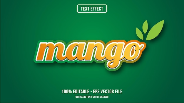 Mango text effect style concept