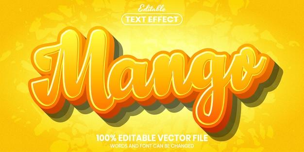 Текст манго, редактируемый текстовый эффект стиля шрифта
