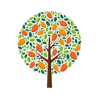 Иллюстрация дерева манго
