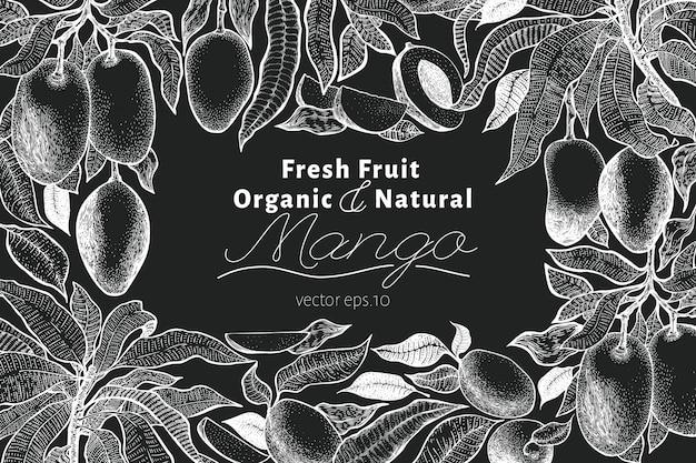Mango tree vintage design template.
