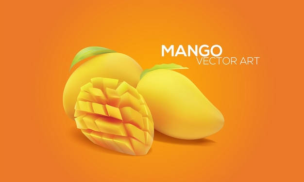 Mangoes in vector art
