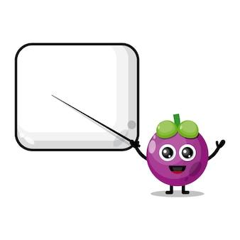 Mangosteen becomes a teacher cute character mascot