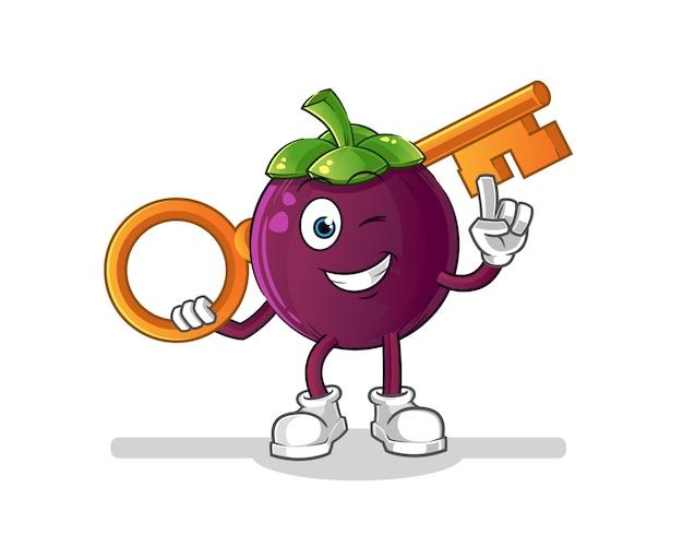 キーイラストキャラクターを保持しているマンゴスチン