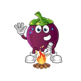 Мангустин жареный зефир персонаж мультфильма талисман