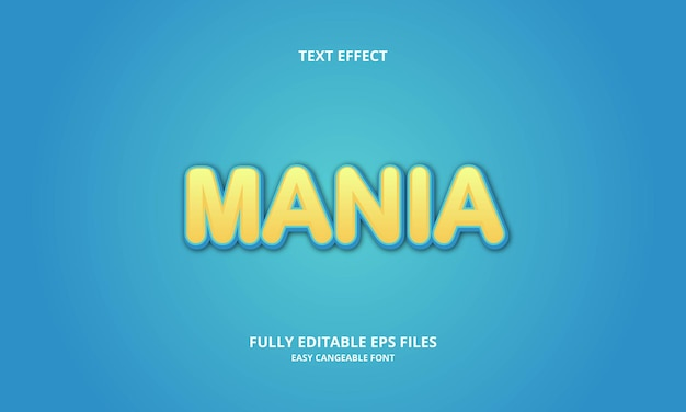 Mania text effect