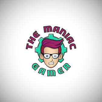 Maniac gamer logo