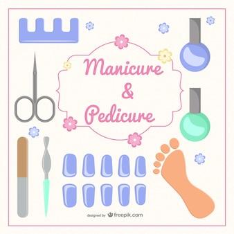 Manicure e pedicure vettore