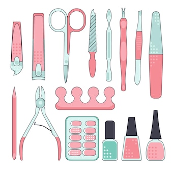 Manicure tools collection