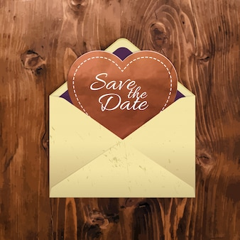 Manila envelope with a heart